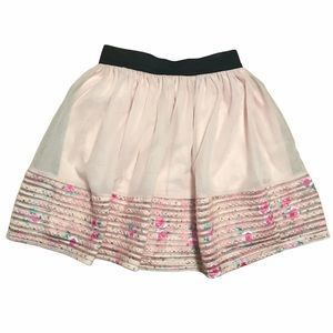 Girls pink tulle and flower skirt XL